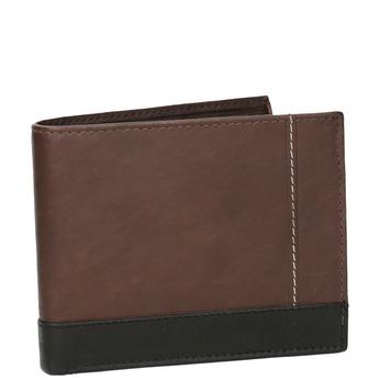 Herren-Geldbörse aus Leder bata, Braun, 944-8149 - 13