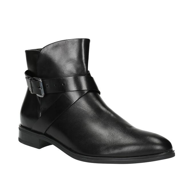 Knöchelschuhe aus Leder mit einer Schnalle bata, Schwarz, 594-6602 - 13