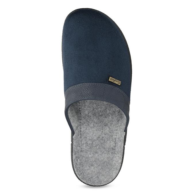 Herren-Hausschuhe bata, Blau, 879-9600 - 17