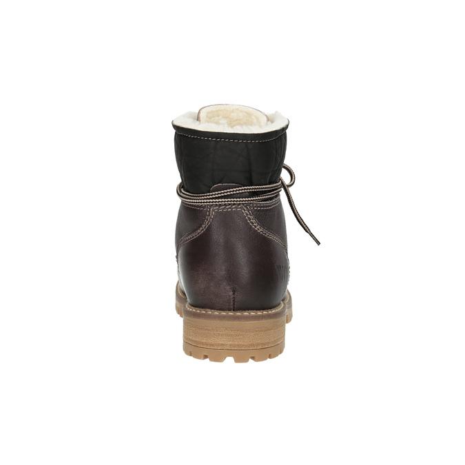 Damen-Winterschuhe aus Leder weinbrenner, Braun, 594-4491 - 17