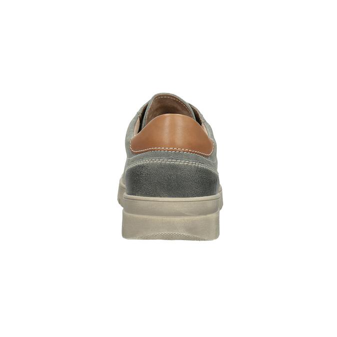 Herren-Sneakers aus Leder weinbrenner, Grau, 843-2620 - 17