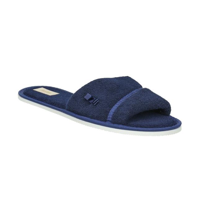 Damen-Hausschuhe mit Schleifchen bata, Blau, 579-9609 - 13