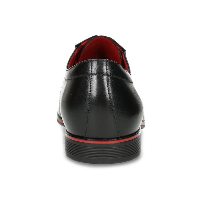 Lederhalbschuhe mit roten Details conhpol, Schwarz, 824-6873 - 15