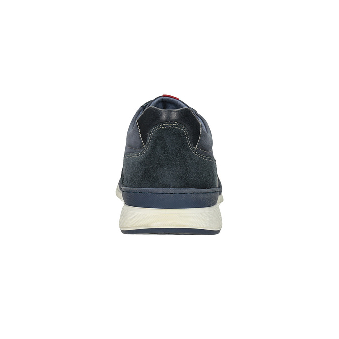 Legere Sneakers aus geschliffenem Leder bata, Blau, 846-9639 - 15