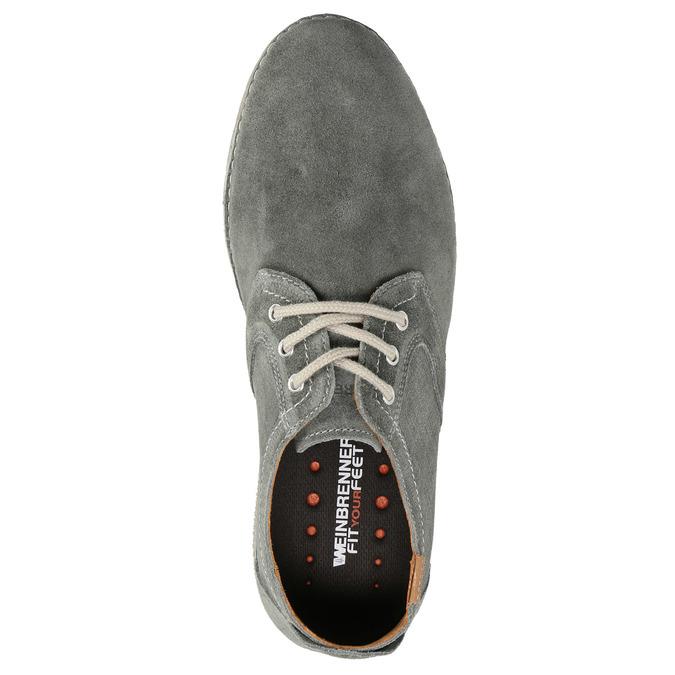 Legere, graue Halbschuhe aus Leder weinbrenner, Grau, 843-2629 - 19