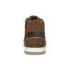 Knöchelhohe Sneakers aus Leder bata, Braun, 846-4640 - 17