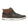 Knöchelhohe Sneakers aus Leder bata, Braun, 846-4640 - 15