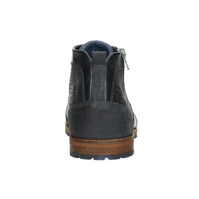 Knöchelschuhe aus Leder mit Reissverschluss bata, Blau, 826-9911 - 17