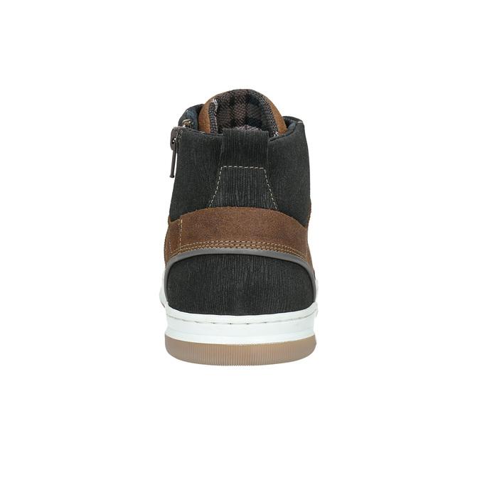 Knöchelhohe Sneakers aus Leder bata, Braun, 846-3640 - 17