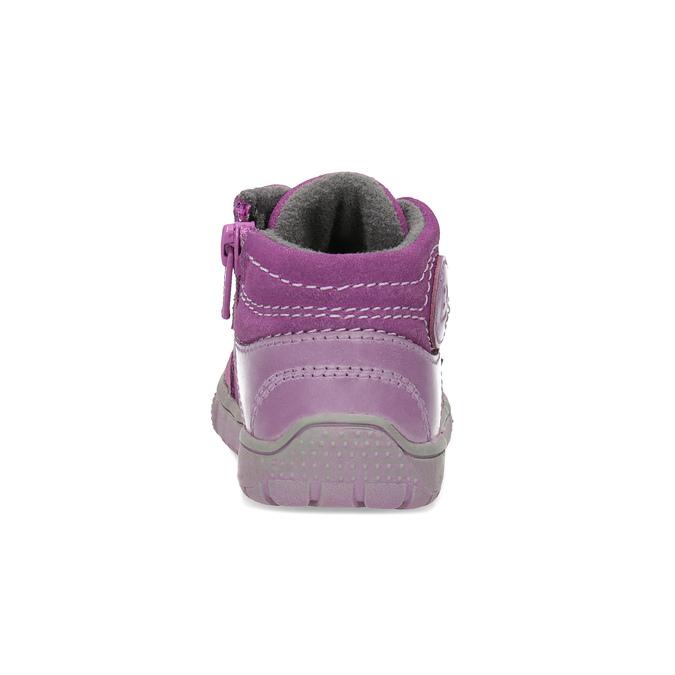 Mädchen-Sneakers aus Leder bubblegummer, Rosa, 123-5601 - 15