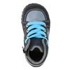 Knaben-Sneakers aus Leder bubblegummer, Blau, 113-9601 - 19