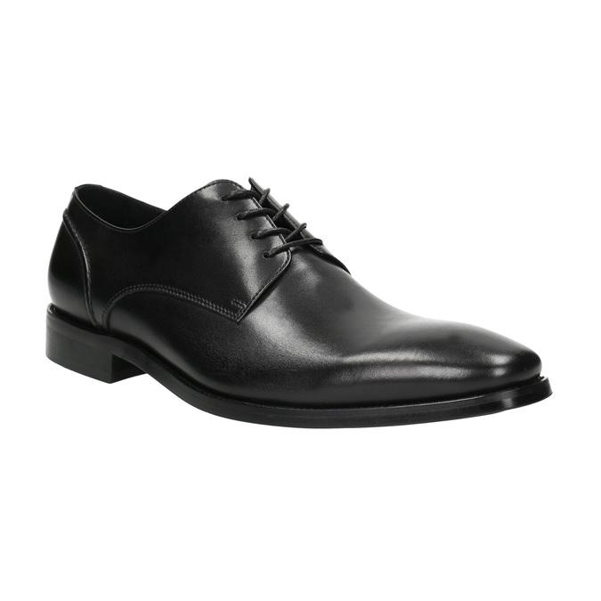 Schwarze Lederhalbschuhe im Derby-Look bata, Schwarz, 824-6405 - 13