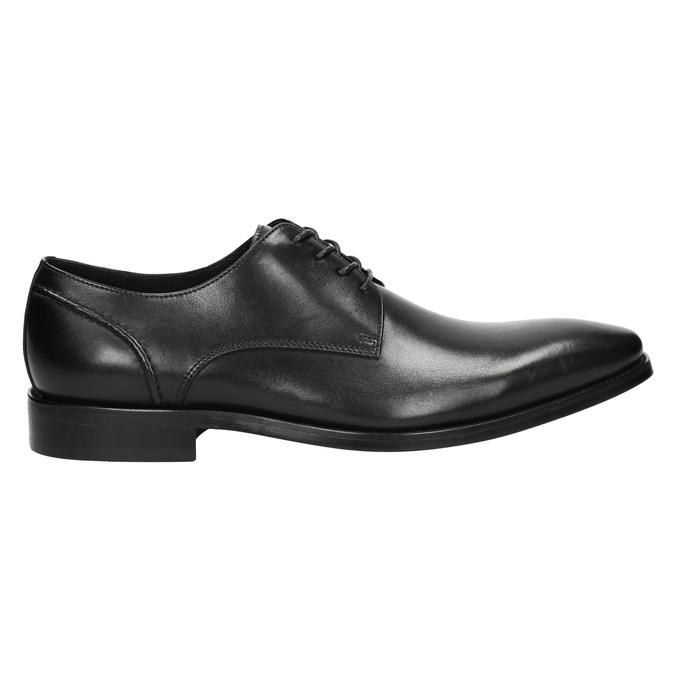 Schwarze Lederhalbschuhe im Derby-Look bata, Schwarz, 824-6405 - 15