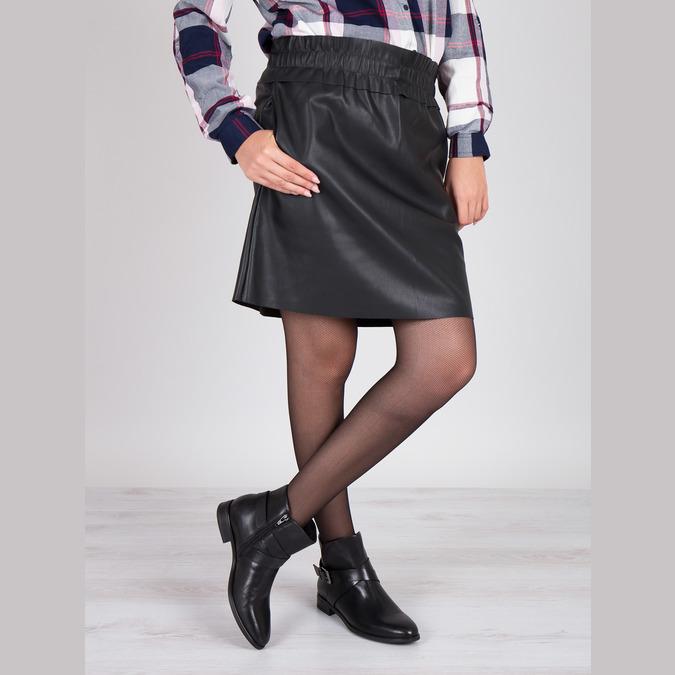Knöchelschuhe aus Leder mit einer Schnalle bata, Schwarz, 594-6602 - 18