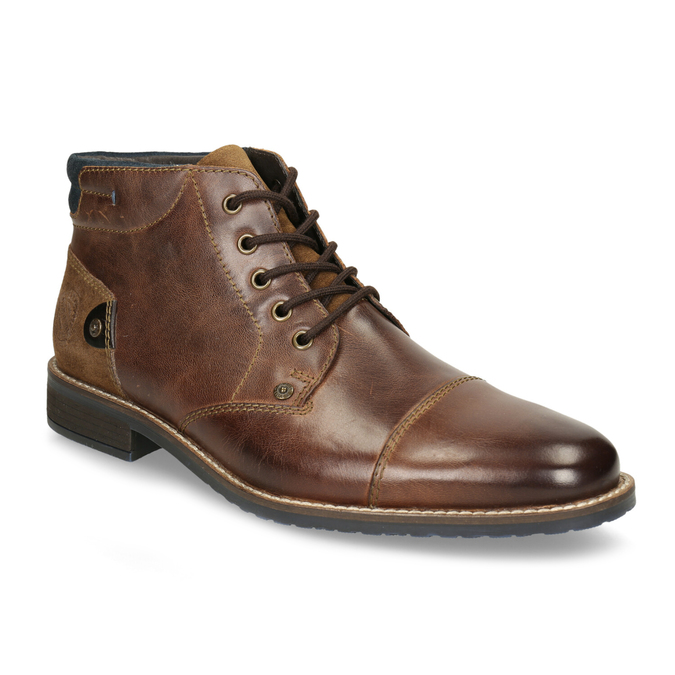 Herren-Knöchelschuhe aus Leder bata, Braun, 826-3611 - 13