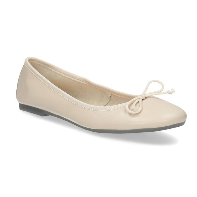 Leder-Ballerinas bata, Beige, 524-8144 - 13
