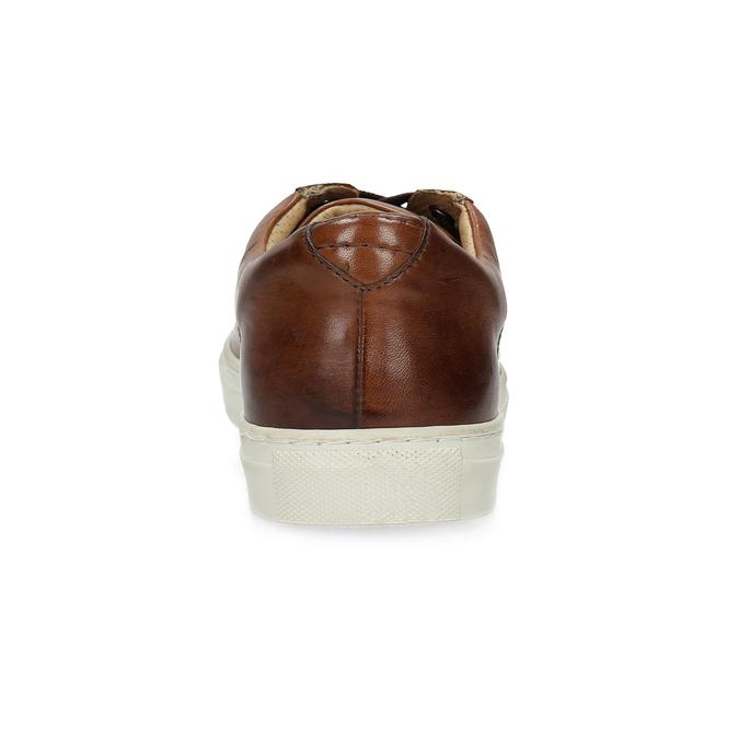Herren-Sneakers aus Leder bata, Braun, 846-4648 - 15