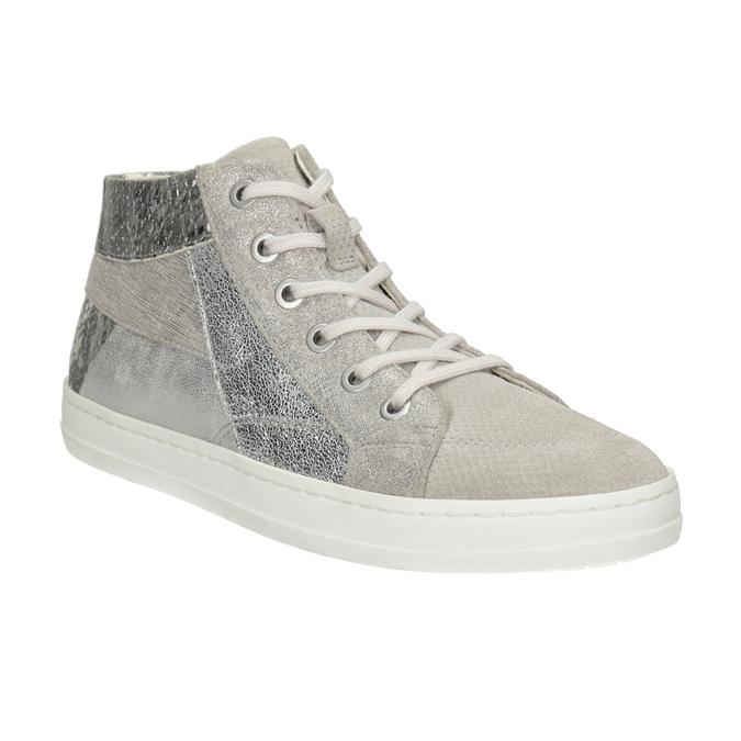 Knöchelhohe Leder-Sneakers bata, Grau, 546-2608 - 13