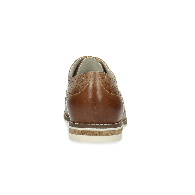 Braune Damenhalbschuhe aus Leder bata, Braun, 526-3649 - 15