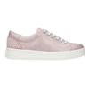 Rosa Leder-Sneakers mit kleinen Perlen bata, Rosa, 546-5606 - 26